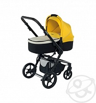 Коляска 3 в 1 Foppapedretti 3 Chic Travel System, цвет: black frame yellow